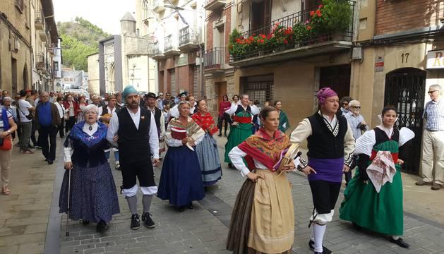 Las calles de Sangüesa acogieron un año más la celebración de la fiesta del Pilar.