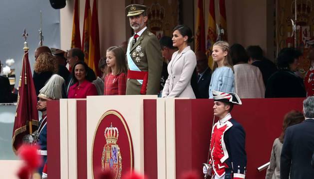Este viernes, 12 de octubre, se ha celebrado el tradicional militar en Madrid, presidido por Felipe VI y la reina Letizia