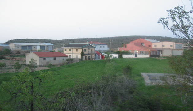 Vista de la localidad zaragozana de Paniza.