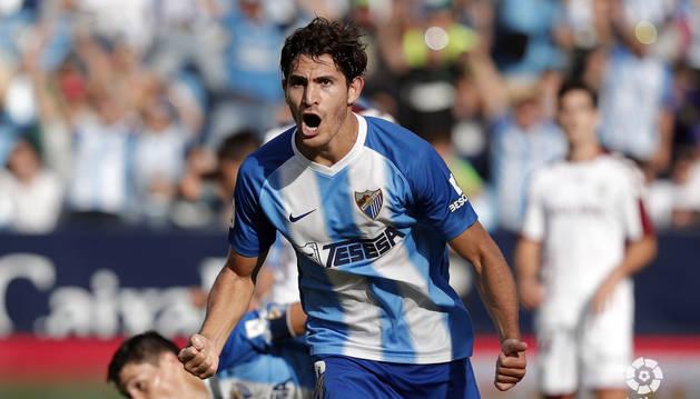 Gustavo Blanco anotó los dos goles del Málaga frente al Albacete