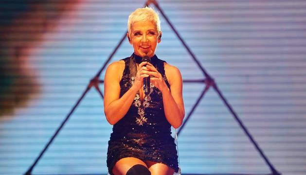 Ana Torroja, durante un concierto en Guadalajara, México