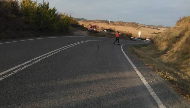 El accidente ha tenido lugar en la NA1110, en el cruce de Bargota.