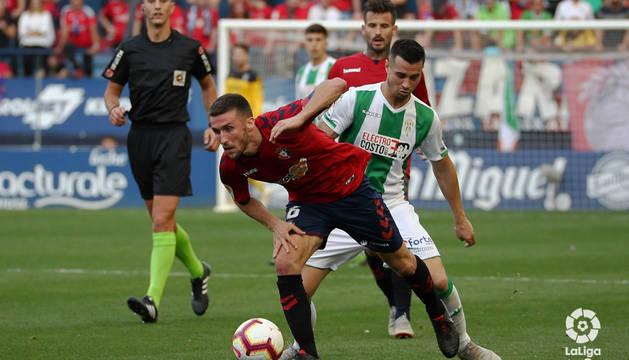 Oier, en el partido contra el Córdoba.