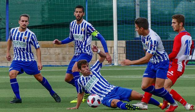Imagen del partido Izarra-Sporting B.