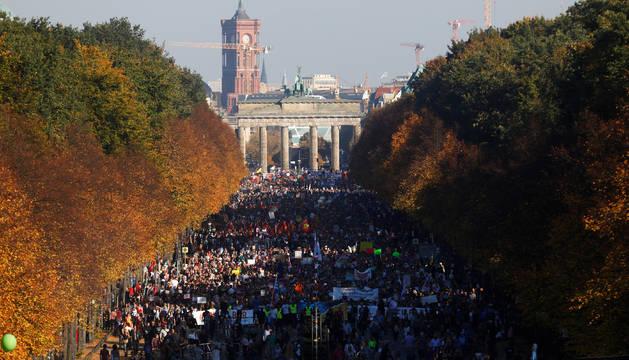 Durante la manifestación en Berlín