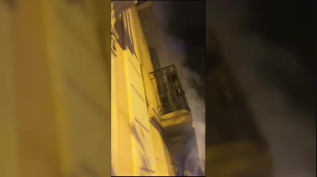 Grave incendio provocado en Barcelona