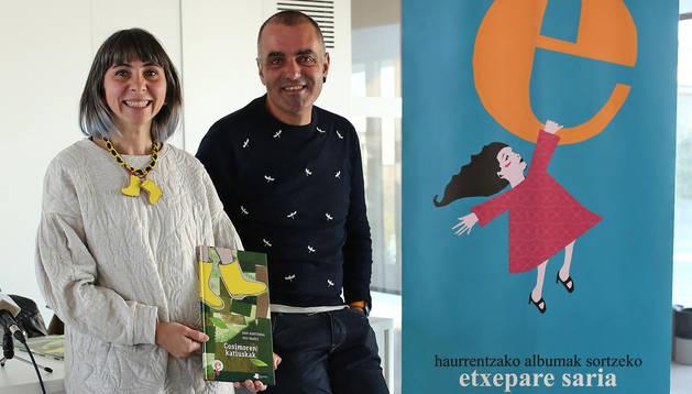 Ana Ibañez y Dani Martirena, este martes en El Centro de Cordovilla.