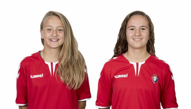 Ane Ansa y Karolina Sarasua, en una imagen del club