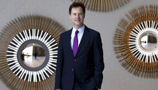 El ex vice primer ministro británico Nick Clegg.