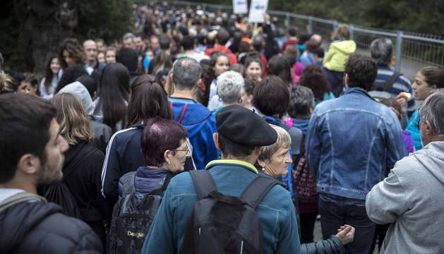 Miles de personas participan en el Nafarroa Oinez que se celebra este domingo en Alsasua