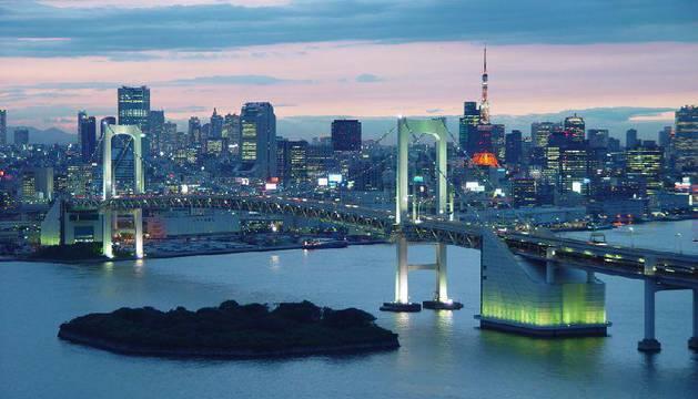 Visto de Tokio de noche