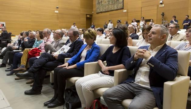 Asistentes a la presentación del Plan Estratégico de la Fundación Caja Navarra 2019