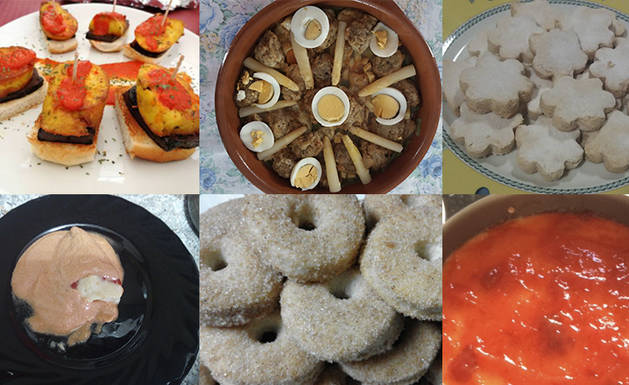 Algunas de los platos participantes.