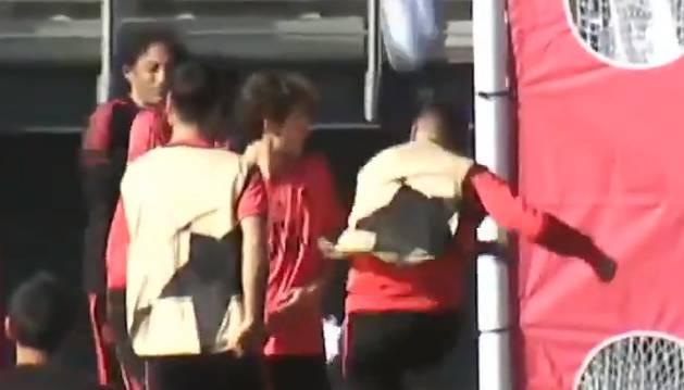 Ramos se enfada con un canterano en el entrenamieto