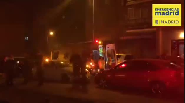 Tres apuñalados y una mujer tiroteada en Madrid