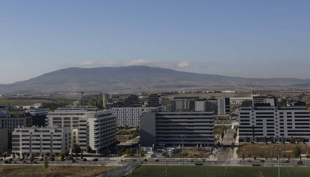 Una vista del nuevo barrio pamplonés del Soto de Lezkairu, que encabeza los precios de compra-venta de vivienda usada en Pamplona.