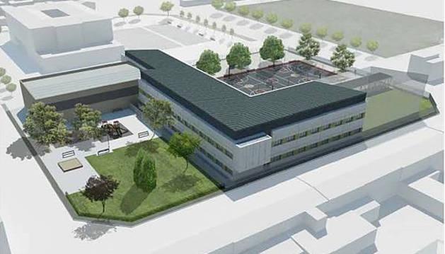Educación presenta el proyecto del nuevo  instituto de Ribaforada