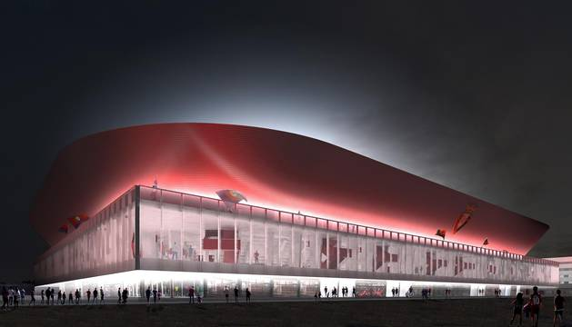 Propuesta del estudio OFS VDR para la reforma del estadio rojillo