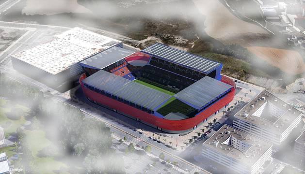 Propuesta del estudio AH Obenasa para la reforma del estadio rojillo