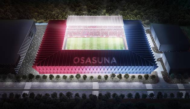 Propuesta del estudio Vaíllo ACR para la reforma del estadio rojillo.