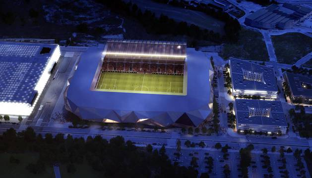 Propuesta del estudio TYM Herce para la reforma del estadio rojillo