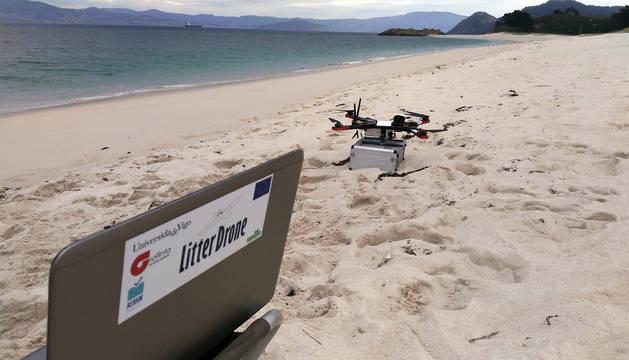 Imagen de un dron de LitterDrone.