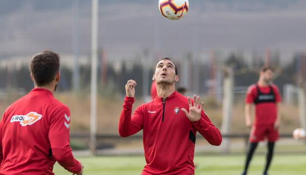 Unai García, durante un entrenamiento.