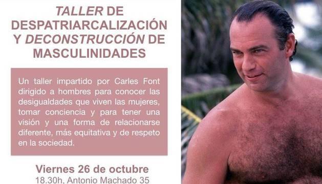 Bertín Osborne, en la imagen difundida por Podemos Elche para promocionar su taller contra el machismo.