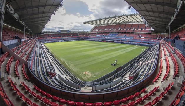 Imagen del estadio de El Sadar este pasado verano.