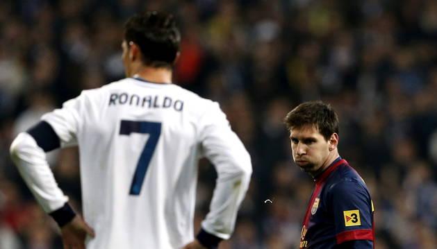 Ronaldo y Messi, en un Clásico en 2013
