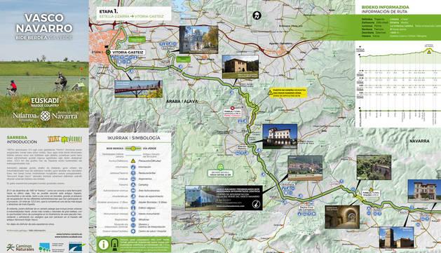 Presentada la guía de la vía verde del ferrocarril vasco navarro