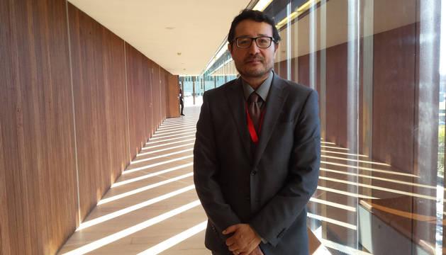 Amadeo Jensana, director de programas económicos de Casa Asia, en Baluarte, después de su exposición en la jornada de internacionalización.