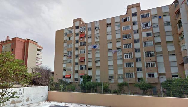Viviendas del distrito Cruz Humilladero, de Málaga, donde ocurrió la agresión.