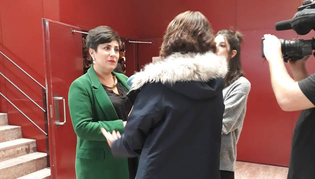 La consejera Solana es entrevistada en el transcurso del Congreso.