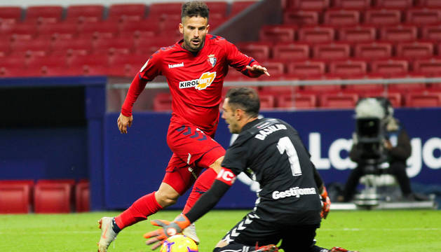 Rubén García dispuso de una oportunidad ante Basilio en el minuto 56 que no supo resolver al mandar la pelota desviada.