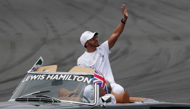 Lewis Hamilton, en el Autódromo Hermanos Rodríguez.