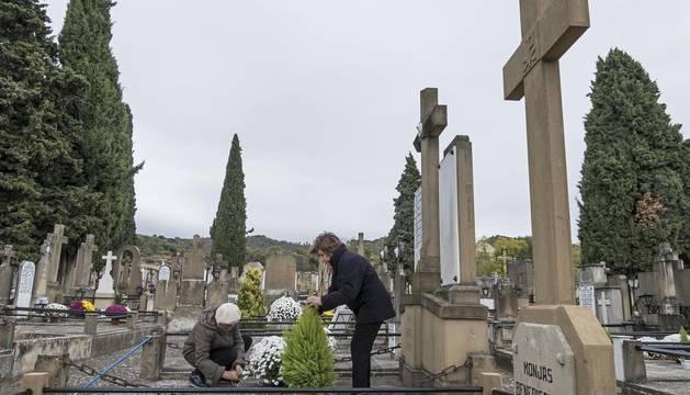 El cementerio de Estella, en una imagen tomada este martes por la mañana.