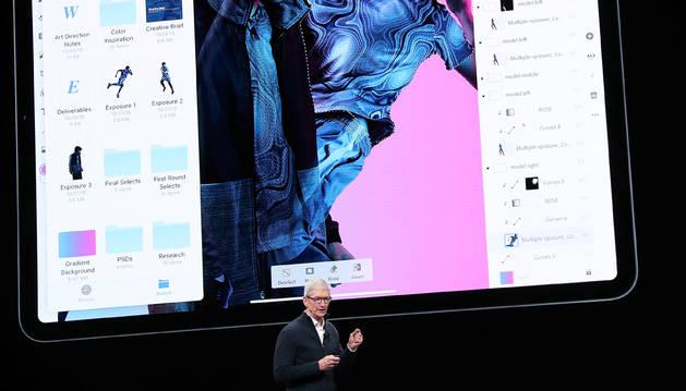 Tim Cook, CEO de Apple, ha presentado el nuevo iPad Pro.
