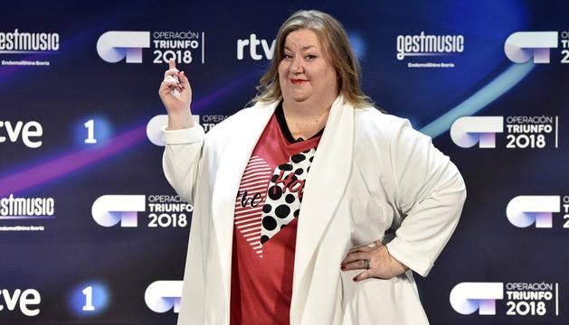 Itziar Castro, en la rueda de prensa de la presentación de 'OT 2018'.