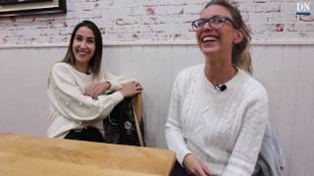 Las sonrisas de Nerea Martínez y Lamia Herram