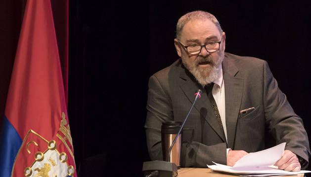 Rafa Almandoz, durante su intervención.