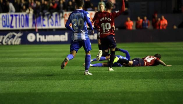 Imágenes del partido disputado en El Sadar entre Osasuna y Málaga el 3 de noviembre de 2018.