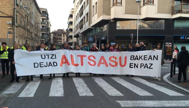 La manifestación de este sábado en Alsasua