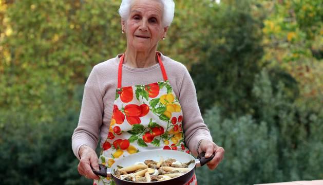 Receta de la menestra de verduras de Mari Carmen Andueza
