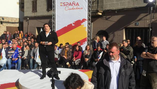 Imágenes del acto organizado por España Ciudadana en Alsasua.