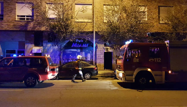 Un incendio en un bar de Pamplona se salda sin heridos