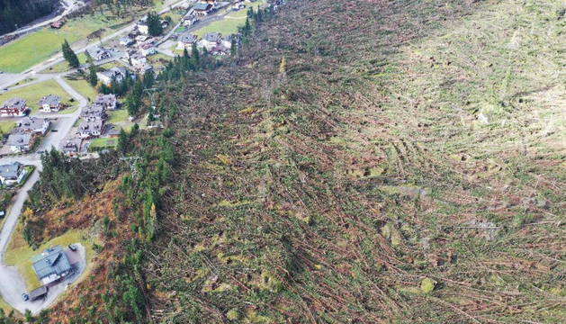 Una de las zonas afectadas por las tormentas en Italia