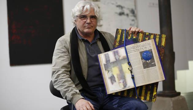 José Luis Mayor, a principios de año, en la presentación de su muestra sobre las pateras.