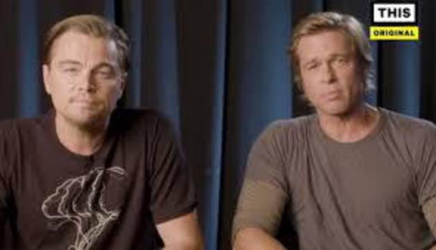 Imagen del vídeo de Leonardo DiCaprio y Brad Pitt