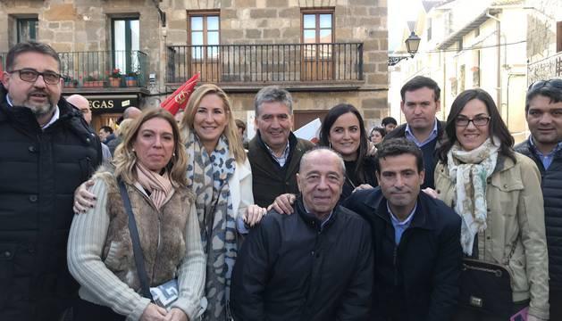 Miembros del PP, este domingo en Alsasua